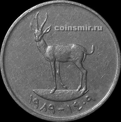 25 филсов 1989 ОАЭ (Объединённые Арабские Эмираты). Газель.