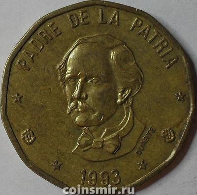 1 песо 1993 Доминиканская республика.