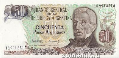 50 песо 1983-85 Аргентина.