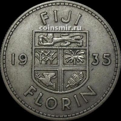 1 флорин 1935 Фиджи. Король Георг V (1911 - 1936).