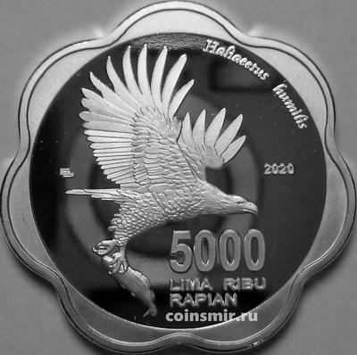 5000 рупий 2020 Натуна. Орлан.