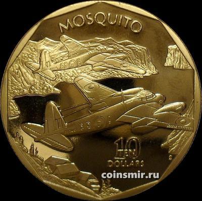 10 долларов 1991 Маршалловы острова. Британский бомбардировщик Mosquito.