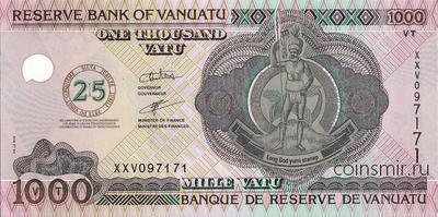 1000 вату 2005 Вануату. 25-летие Независимости.