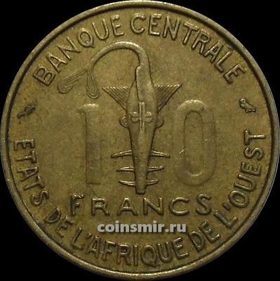 10 франков 1959  КФА BCEAO (Западная Африка).