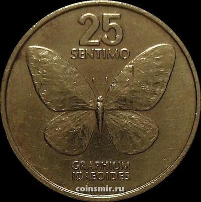25 сентимо 1988 Филиппины. Бабочка.