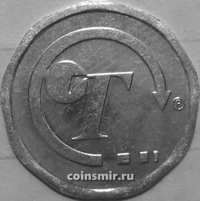 Жетон  транспортный 50 пенсов Логотип. Великобритания.