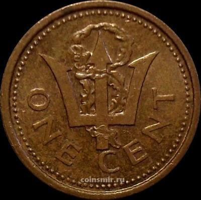 1 цент 1986 Барбадос.