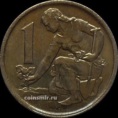 1 крона 1970 Чехословакия.