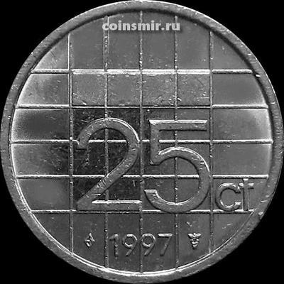 25 центов 1997 Нидерланды.