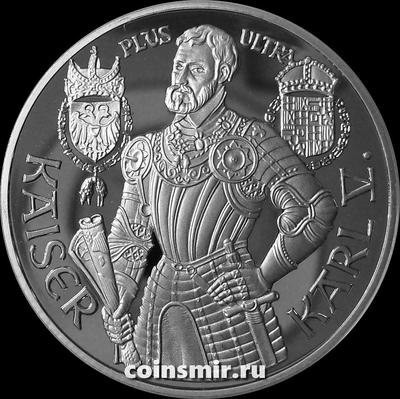 100 шиллингов 1992 Австрия. Король Карл V.  Пруф.