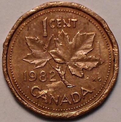 1 цент 1982 Канада. Состояние на фото.