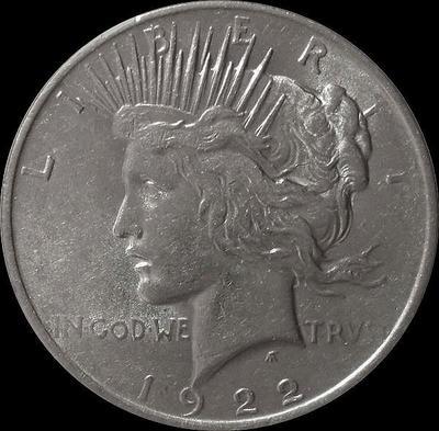 1 доллар 1922 США. Peace Dollar.
