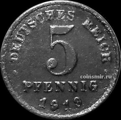 5 пфеннигов 1919 G Германия.