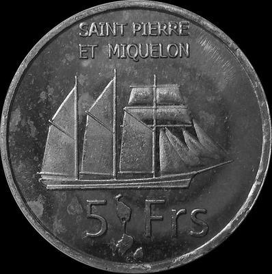 5 франков 2013 Сен-Пьер и Микелон.