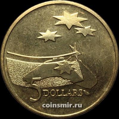 5 долларов 1992 Австралия. Роль Австралии в космической индустрии.