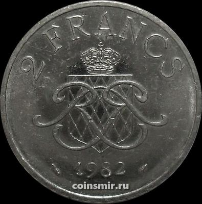 2 франка 1982 Монако.