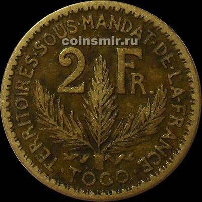 2 франка 1925 французское Того.