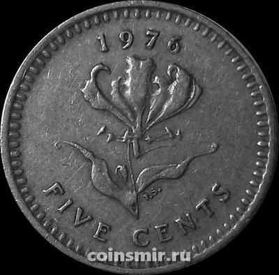 5 центов 1976 Родезия.