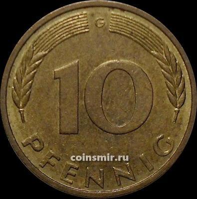 10 пфеннигов 1991 G Германия ФРГ.
