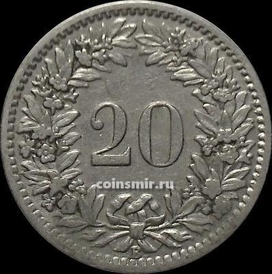 20 раппенов 1919 В Швейцария.