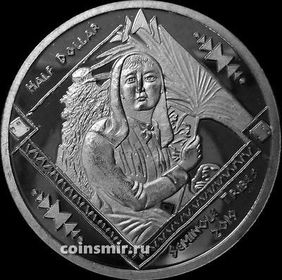 1/2 доллара 2019 племя Семинолы.