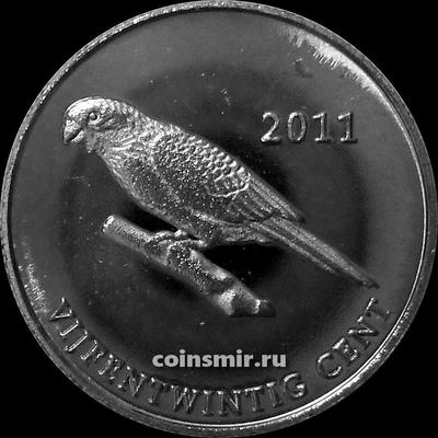 25 центов 2011 остров Саба.
