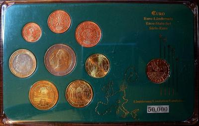 Набор евро монет 2002-2005 Австрия. Пластик.