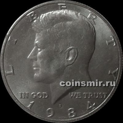 1/2 доллара 1984 D США.