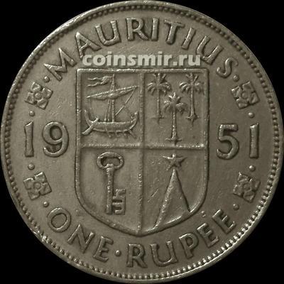 1 рупия 1951 Маврикий.