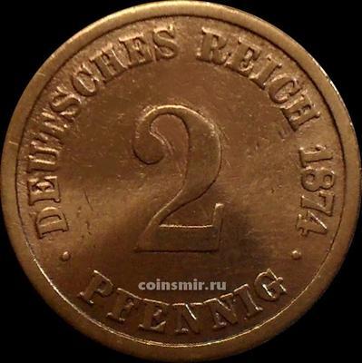 2 пфеннига 1874 А Германия.