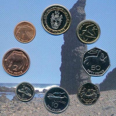 Набор из 8 монет 2003 остров Святой Елены и Вознесения. Буклет.