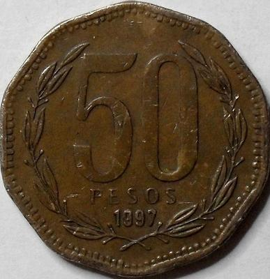 50 песо 1997 Чили.