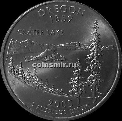 25 центов 2005 D США. Орегон.