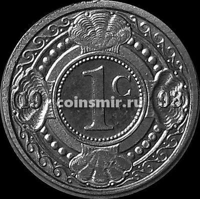 1 цент 1993 Нидерландские Антильские острова.