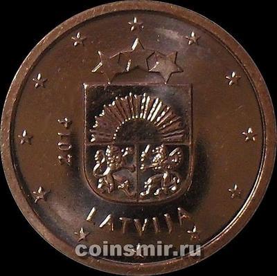 1 евроцент 2014 Латвия.