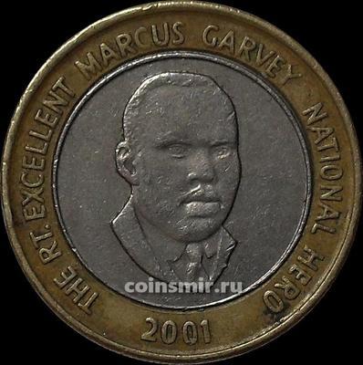 20 долларов 2001 Ямайка.