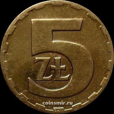 5 злотых 1976 Польша.