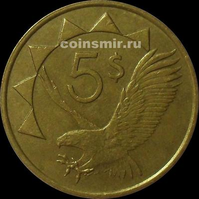 5 долларов 1993 Намибия. Орёл. VF.