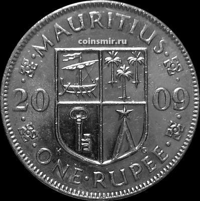 1 рупия 2009 Маврикий.