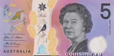 5 долларов 2016 Австралия.