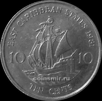 10 центов 1981 Восточные Карибы.