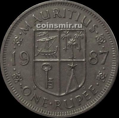 1 рупия 1987 Маврикий.