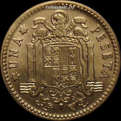 1 песета 1963 (19...) Испания.