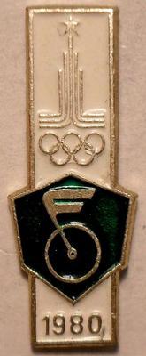 Значок Велоспорт. Олимпиада 1980 в Москве.