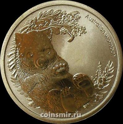 1 доллар 2013 Австралия. Австралийский вомбат.