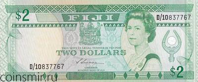 2 доллара 1988 Фиджи.