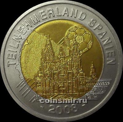 Жетон. Чемпионат Европы 2008. Австрия.  Страна-участник Испания.