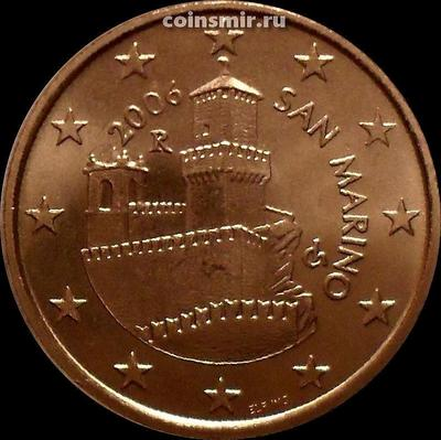 5 евроцентов 2006 Сан-Марино. Башня Гуаита.