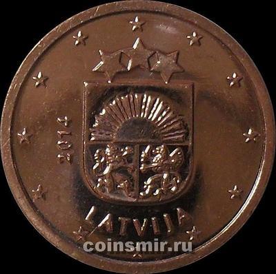 2 евроцента 2014 Латвия.