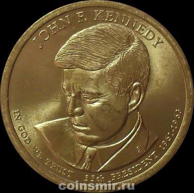 1 доллар 2015 D США. 35-й президент Джон Кеннеди.
